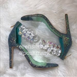 Shoes - Mermaid Embellished Clear Strap Heel 🐠✨ 7.5